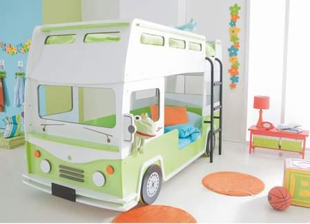 Stepenik neobi ni kreveti na sprat u obliku vozila - Kinderbett bus ...