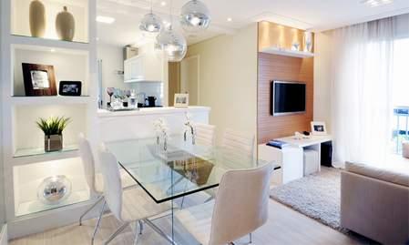 Stepenik dnevna soba trpezarija i kuhinja u istom prostoru for Decorar apartamento pequeno fotos
