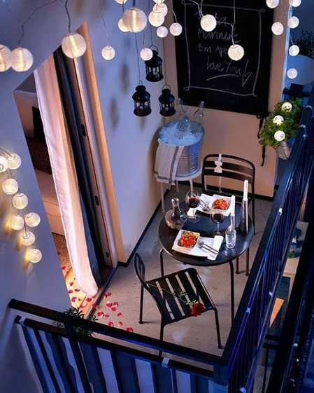 dekoracija terase za romantične trenutke